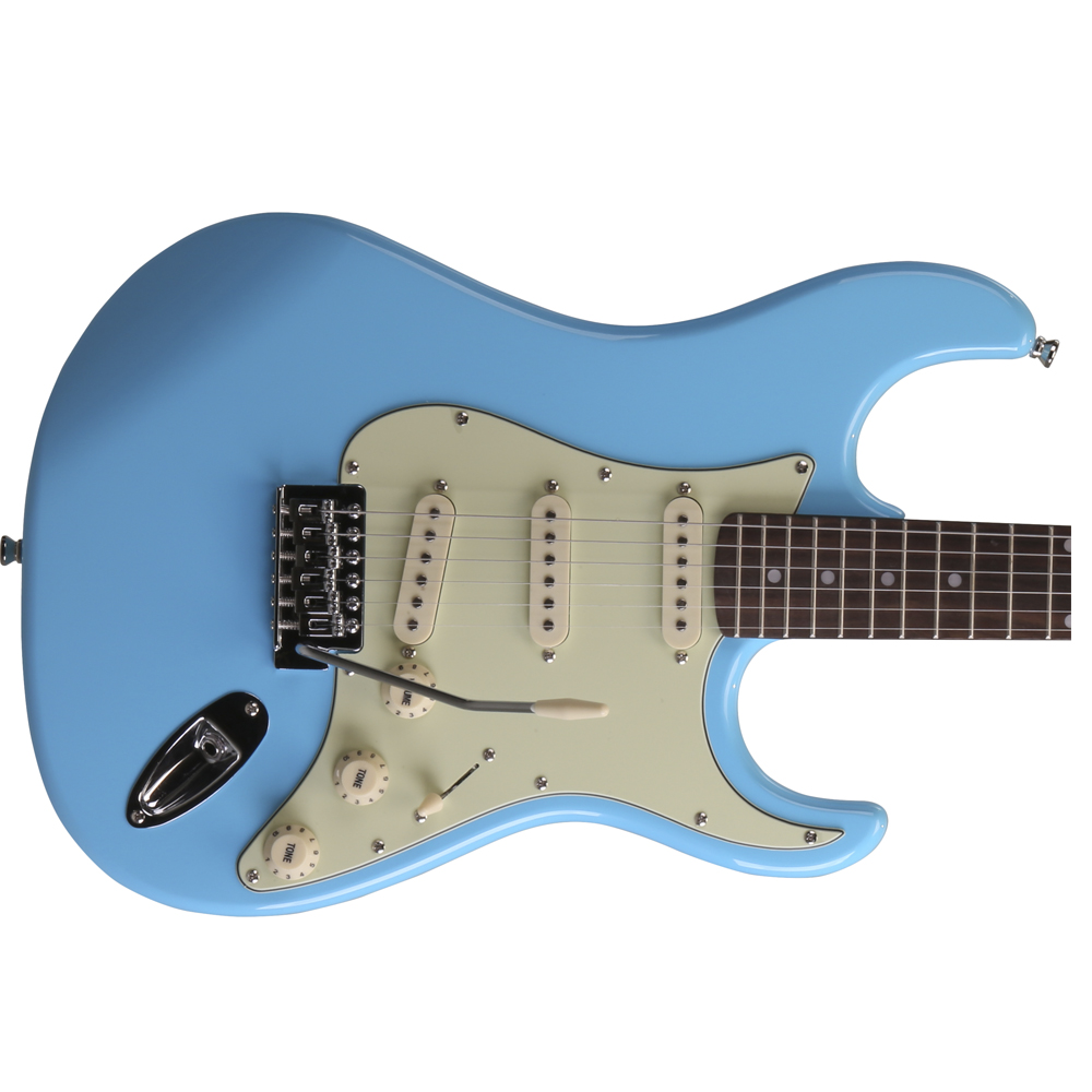 guitarra memphis by tagima mg 32 azul vintage orango rock